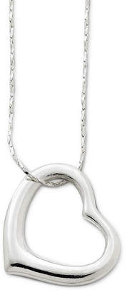 JCPenney Decree Long Openwork Heart Pendant Necklace