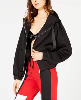 Waisted Hooded Track Jacket