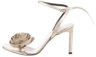 Nina Ricci Rosette Metallic Sandals w/ Tags