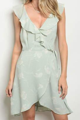 Pretty Little Things Sage Wrap Dress
