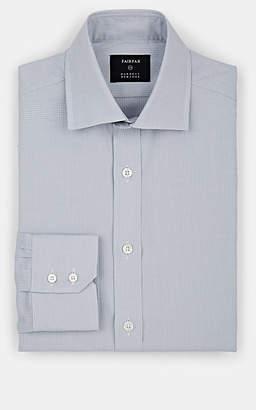 Fairfax Men's Micro-Houndstooth Cotton Dress Shirt - Light Gray
