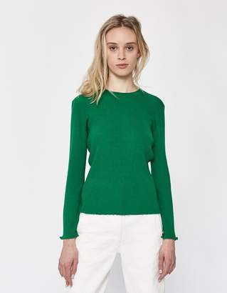 A.P.C. Lady Rib-Knit Sweater in Green