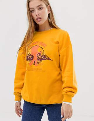 Daisy Street relaxed sweatshirt with alpine print