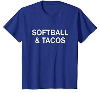 Softball & Tacos Funny Taco Lover T-Shirt
