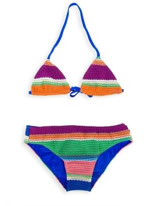 Missoni Kids zig-zag crochet knit bikini