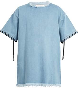 Marques Almeida MARQUES'ALMEIDA Lace-up cuff denim T-shirt