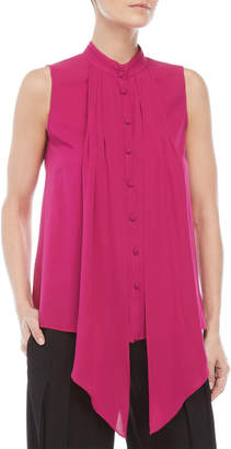 Derek Lam Sleeveless Button-Down Silk Blouse