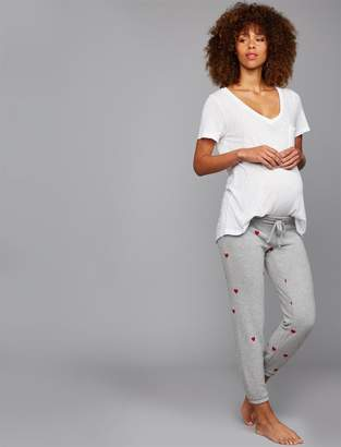 Chaser Hearts Under Belly Jogger Maternity Pant
