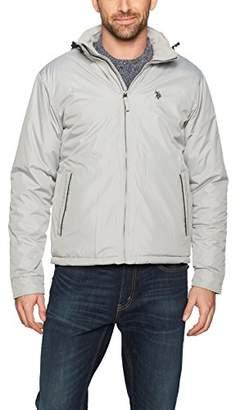U.S. Polo Assn. Mens Standard Fleece Lined PU Piped Jacket