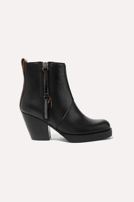 Acne Studios The Pistol Leather Ankle Boots