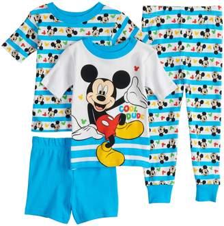 "Disney Disney's Mickey Mouse Toddler Boy ""Cool Dude"" Tops, Shorts & Pants Pajama Set"