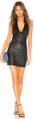 Alexander Wang Stretch Leather Halter Dress