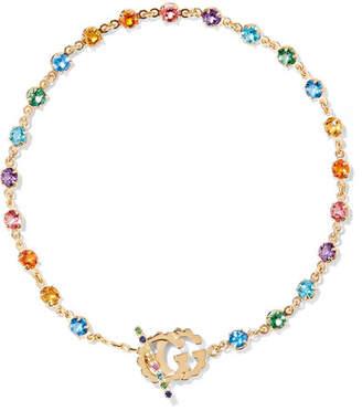 Gucci 18-karat Gold Multi-stone Bracelet