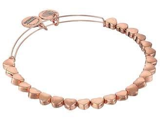 Alex and Ani Heart Beaded Bangle Bracelet