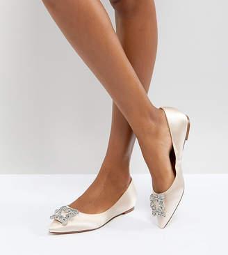 Dune London Dune Bridal Bridal Exclusive Briella Embellished Flat Shoes