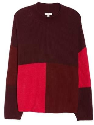 BP Mock Neck Colorblock Sweater