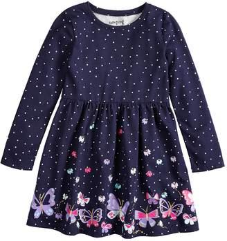 Girls 4-10 Jumping Beans Shirred Skater Dress