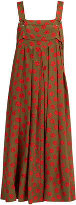 RACHEL COMEY Paw-print silk-crepe midi dress $720 thestylecure.com