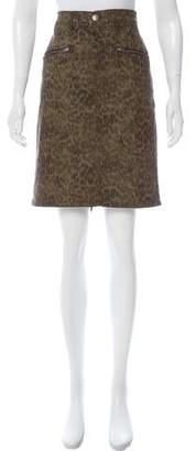 Current/Elliott Army Print Knee-Length Skirt w/ Tags