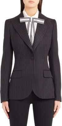 Dolce & Gabbana Pinstripe Stretch Wool Jacket