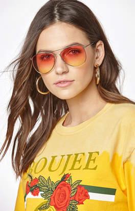La Hearts Sunset Aviator Sunglasses