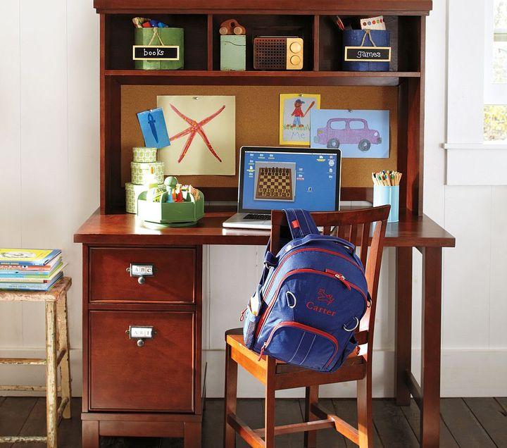 Pottery Barn Kids Schoolhouse Basic Desk & Large Hutch