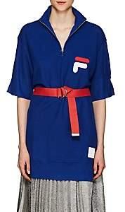 D-ANTIDOTE Women's Logo Wool-Blend Oversized Quarter-Zip Sweater - Blue