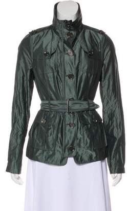 Burberry Stand Collar Button-Up Jacket