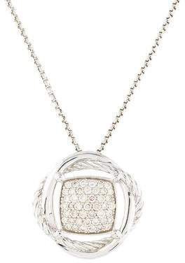 David Yurman Diamond Crossover Pendant Necklace