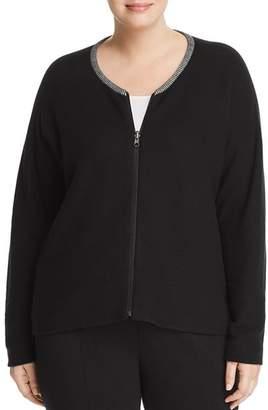 Eileen Fisher Plus Organic Cotton Zip-Front Cardigan