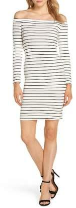 BB Dakota Bridget Off the Shoulder Body-Con Dress