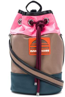 Marc Jacobs colour block logo backpack