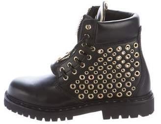 Balmain Tia Ranger Leather Boots w/ Tags