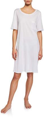 Hanro Cotton Deluxe Short-Sleeve Big Sleepshirt
