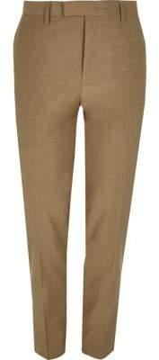 River Island Brown skinny fit suit pants