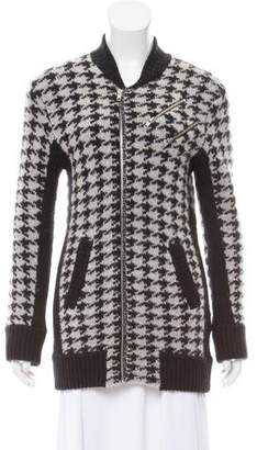 The Kooples Houndstooth Knit Sweater
