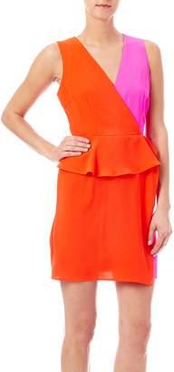 Luce C. Colorblock Peplum Dress