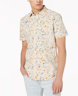 Tommy Hilfiger Men's Paint Splatter Print Classic Fit Shirt, Created for Macy's