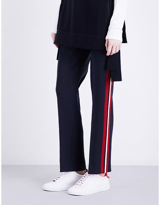 Victoria Victoria Beckham Striped straight wool trousers