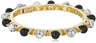 Noir Semi Precious Gold Sphere Roller Bracelet