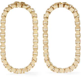 Saskia Diez Loop Gold-plated Earrings