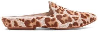 Donald J Pliner RUE, Summer Leopard Haircalf and Burnished Calf Leather Mule