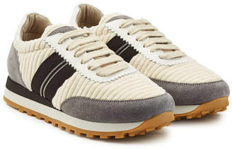 Brunello Cucinelli Suede Sneakers with Leather