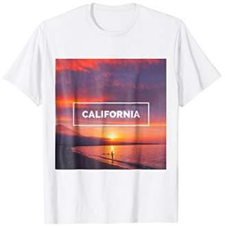 California Beach Sunset Sea Shore Ocean Coast Cali T-Shirt