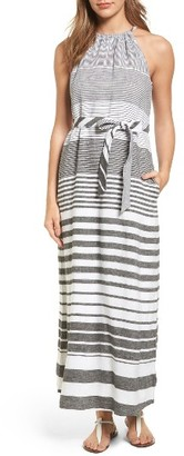 Women's Tommy Bahama Opa Stripe Linen Halter Maxi Dress $168 thestylecure.com