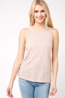Z Supply Marled Triblend Distressed Tank Top Grey XS