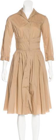 pradaPrada Long Sleeve Midi Dress