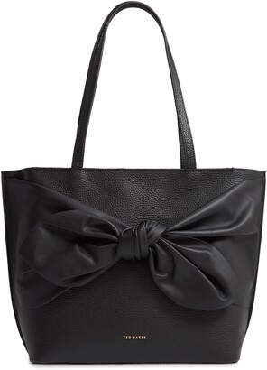 Ted Baker Diiana Soft Knot Detail Leather Shopper