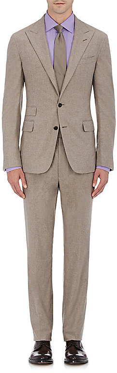Ralph Lauren Purple Label Ralph Lauren Purple Label RALPH LAUREN PURPLE LABEL MEN'S WOOL FLANNEL TWO-BUTTON SUIT