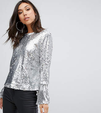 PrettyLittleThing Sequin Top